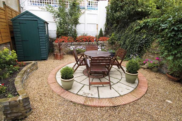 a well designed and planned small garden